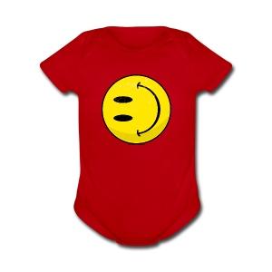 The New Smiley - Short Sleeve Baby Bodysuit