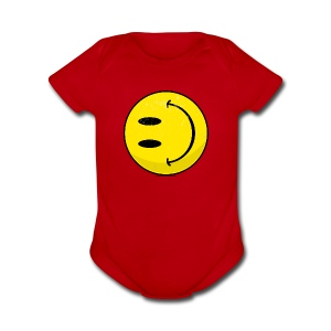 The New Smiley - Short Sleeve Baby Bodysuit