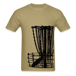 Disc Golf Basket Shirt - Black Print - Men's Standard Weight Shirt - Men's T-Shirt