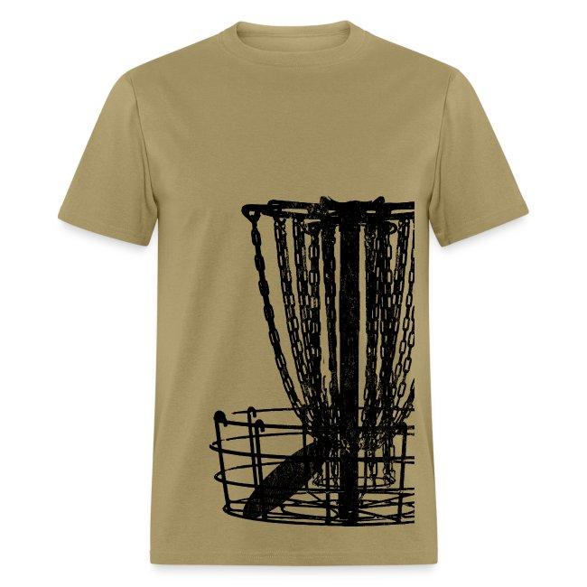 Disc Golf Basket Shirt - Black Print - Men's Standard Weight Shirt