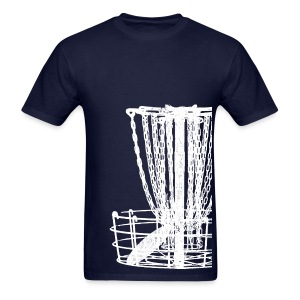 Disc Golf Basket Shirt - White Print - Men's Standard Weight Shirt - Men's T-Shirt