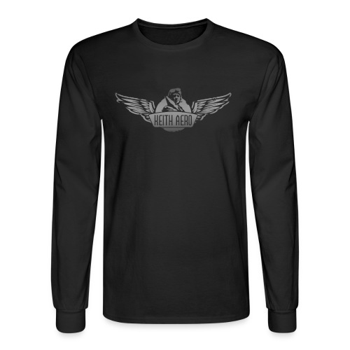 Keith Aero Men's Live to Fly Destroyed Design Long Sleeve T-Shirt - Men's Long Sleeve T-Shirt