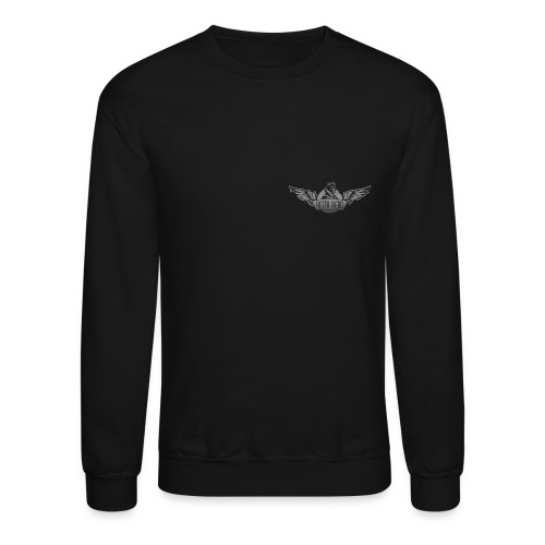 Keith Aero Men's Live to Fly Destroyed Design BW Crewneck Sweatshirt - Crewneck Sweatshirt