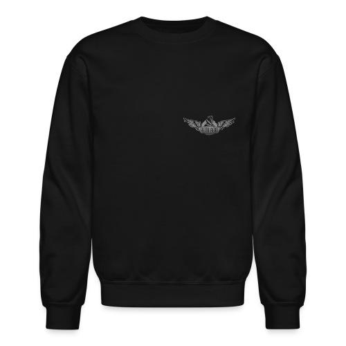 Keith Aero Men's Live to Fly Destroyed Design BW Crewneck Sweatshirt - Crewneck Sweatshirt
