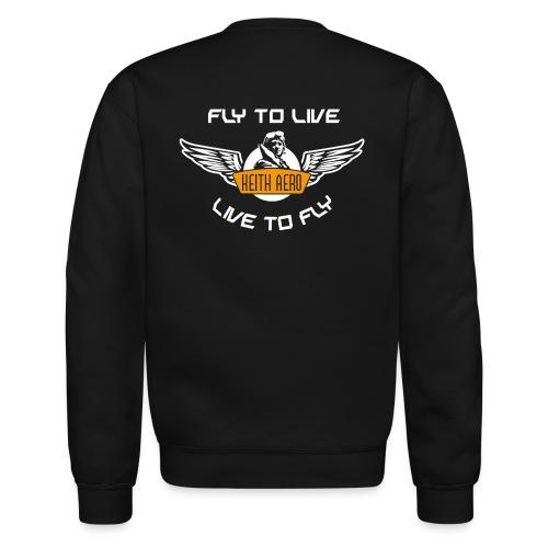 Keith Aero Men's Live to Fly Crewneck Sweatshirt - Crewneck Sweatshirt