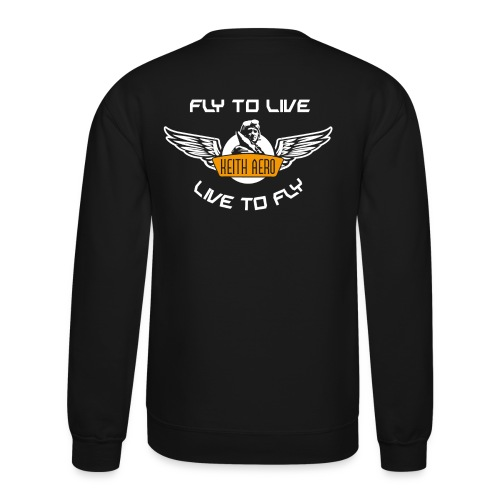 Keith Aero Men's Live to Fly Crewneck Sweatshirt - Crewneck Sweatshirt