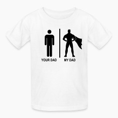 your dad, my dad black Kids' Shirts