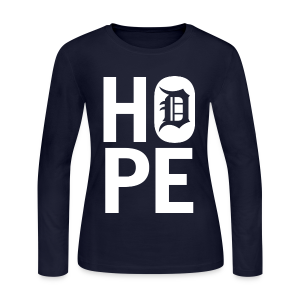HOPE IN DETROIT - Women's Long Sleeve Jersey T-Shirt