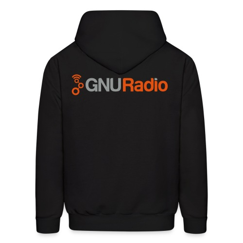 The GNU Radio Hoodie (Black) - Men's Hoodie