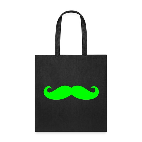 Mustache Tote Bag (Lime Green) - Tote Bag