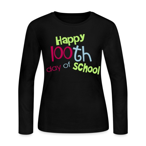 Happy 100th day - Women's Long Sleeve Jersey T-Shirt