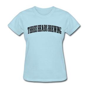 Three Heads Brewing - White Logo - Women's T-Shirt