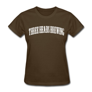 Three Heads Brewing - White Logo - Women's T-Shirt