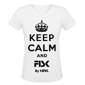 KEEP CALM AND FISK - BY HØVL SHIRT - Women's V-Neck T-Shirt