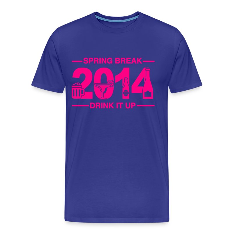 Spring Break '14 - Drink It Up - Men's Premium T-Shirt