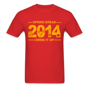Spring Break '14 - Drink It Up - Men's T-Shirt