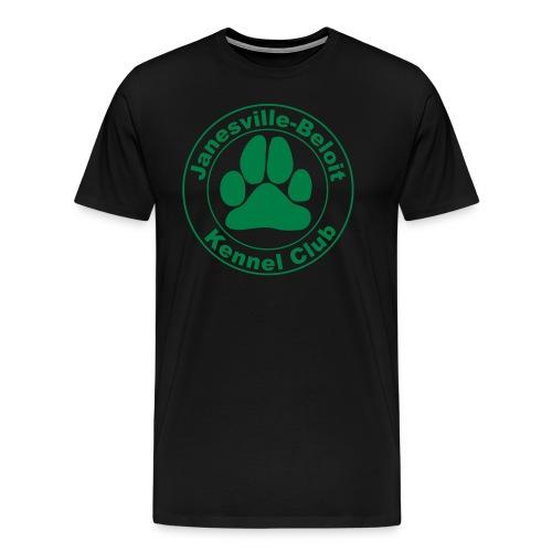 Men's Premium T-Shirt - T-shirt with Janesville-Beloit Kennel Club's logo.
