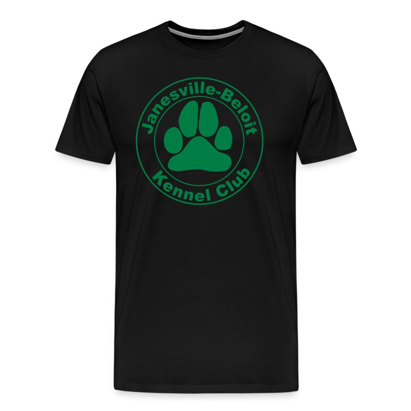 Men's Premium T-Shirt - T-shirt with Janesville-Beloit Kennel Club's logo.