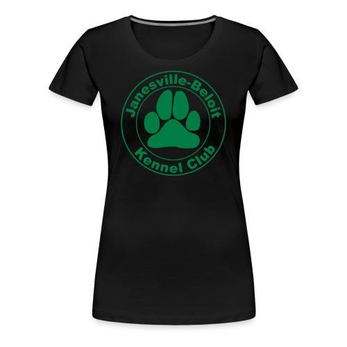 Women's Premium T-Shirt - T-shirt with Janesville-Beloit Kennel Club's logo.