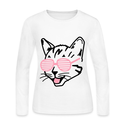cool cat shirt women's - Women's Long Sleeve Jersey T-Shirt