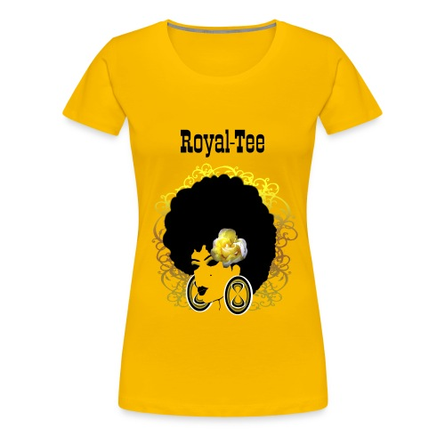 yellow flower Royal Tee - Women's Premium T-Shirt