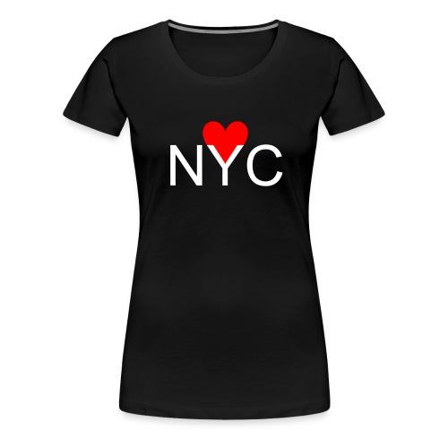 NYC Heart T-Shirt | Womens - Women's Premium T-Shirt