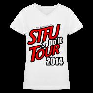 Women's T-Shirts ~ Women's V-Neck T-Shirt ~ STFU AND DO IT