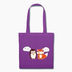 What does the Fox say? Fox and the Hedgehog tote