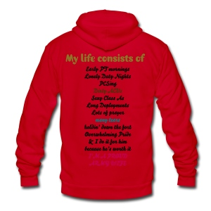 My Army Life - Unisex Fleece Zip Hoodie