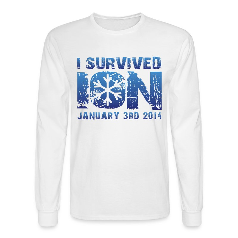 I Survived ION '14 - Men's Long Sleeve T-Shirt
