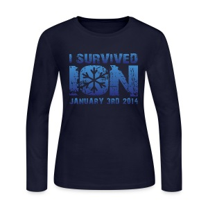 I Survived ION '14 - Women's Long Sleeve Jersey T-Shirt