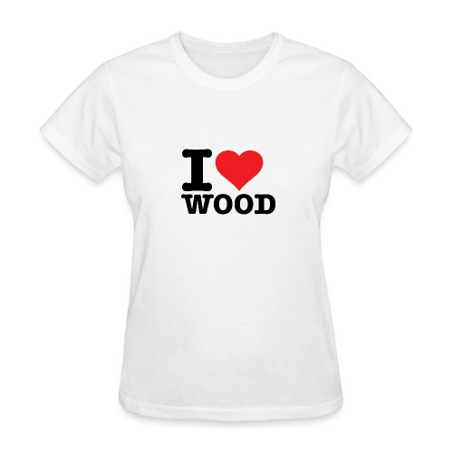 I love wood - Women's T-Shirt