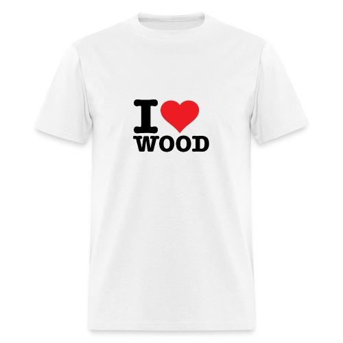 I love wood - Men's T-Shirt