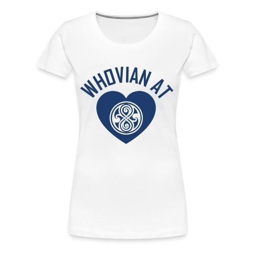 Whovian at hearts Women's Premium Tee - Women's Premium T-Shirt