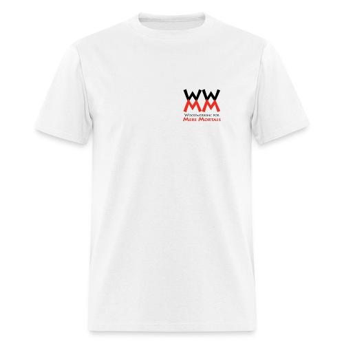 Woodworking for Mere Mortals small logo - Men's T-Shirt