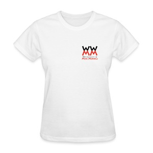 Woodworking for Mere Mortals small logo - Women's T-Shirt
