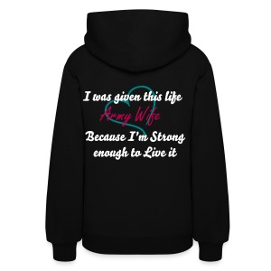 Strong Enough, Army Wife - Women's Hoodie