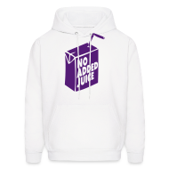 Hoodies ~ Men's Hoodie ~ NO ADDED JUICE (Purple Design) - Hoodie