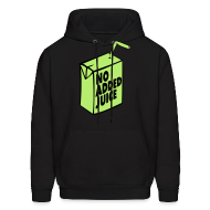 Hoodies ~ Men's Hoodie ~ NO ADDED JUICE (Green Design) - Hoodie