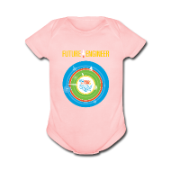 Baby & Toddler Shirts ~ Baby Short Sleeve One Piece ~ Baby Future Engineer   (Front Design Only)