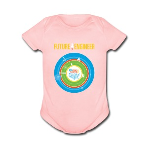 Baby Future Engineer   (Front Design Only) - Short Sleeve Baby Bodysuit