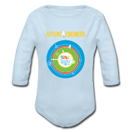 Baby Bodysuits ~ Baby Long Sleeve One Piece ~ Baby Future Engineer Long Sleeve    (Front Design Only)