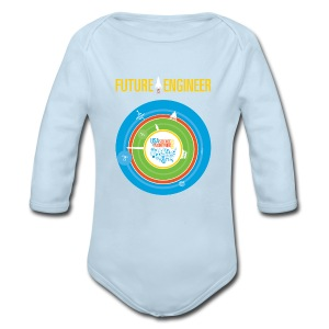 Baby Future Engineer Long Sleeve    (Front Design Only) - Long Sleeve Baby Bodysuit
