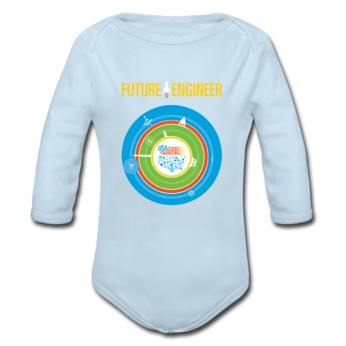 Baby Future Engineer Long Sleeve    (Front Design Only) - Organic Long Sleeve Baby Bodysuit