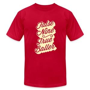 False Nine, True Baller Men's Tee - Men's Fine Jersey T-Shirt