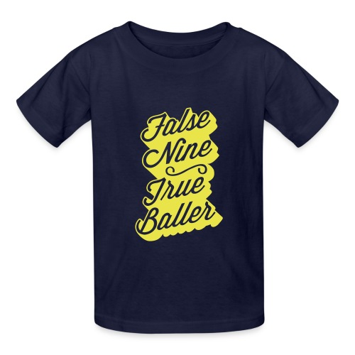 False Nine, True Baller Youth Tee - Kids' T-Shirt