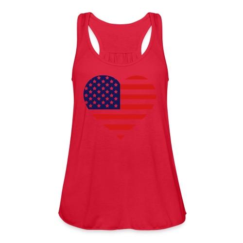 The American Heart - Women's Flowy Tank Top by Bella