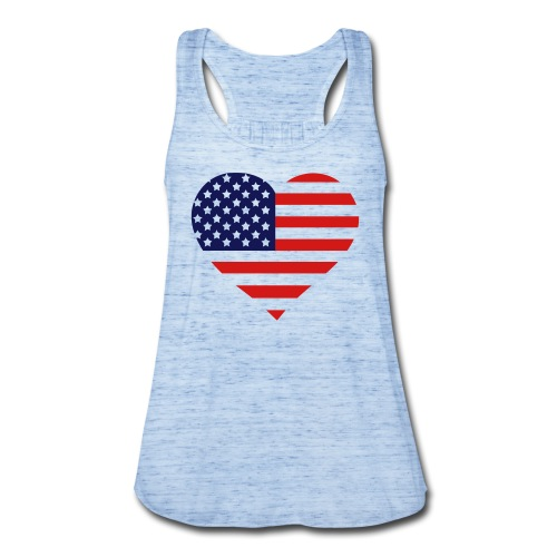 The American Heart - Women's Flowy Tank Top by Bella