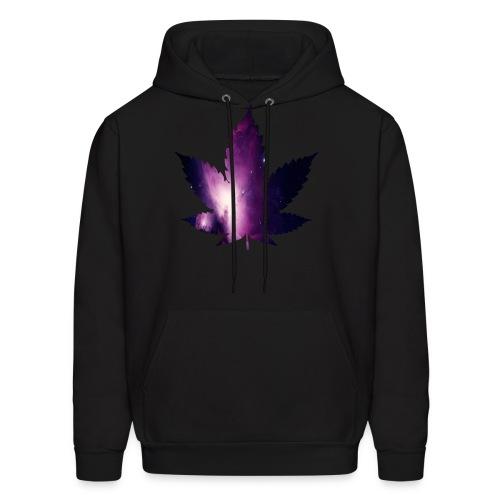 Galaxy Leaf Hoodie (Black) - Men's Hoodie