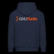 Hoodies ~ Men's Hoodie ~ The GNU Radio Hoodie (Blue)